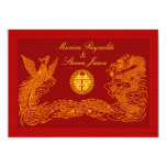 Chinese double happiness RSVP red wedding invitati 13 Cm X 18 Cm Invitation Card