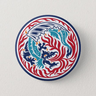 Chinese Dragon 6 Cm Round Badge