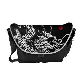 Chinese Dragon and Qin Messenger Bag