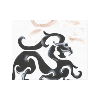 Chinese Dragon Art Canvas Print