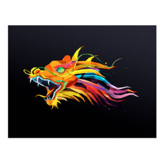 Chinese Dragon Art Postcard