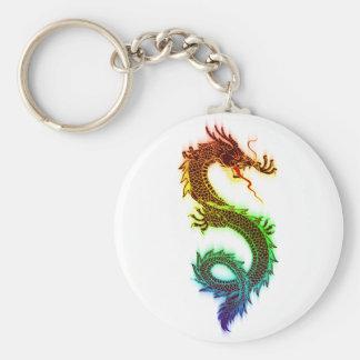 Chinese Dragon Basic Round Button Key Ring