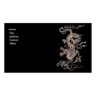 Chinese Dragon Business Card Templates