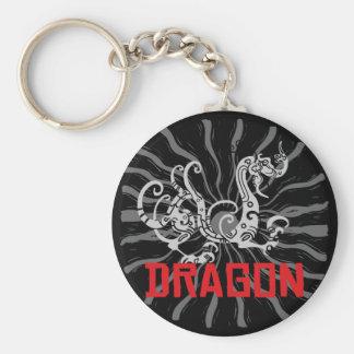 Chinese Dragon Chinese Zodiac Dragon Basic Round Button Key Ring