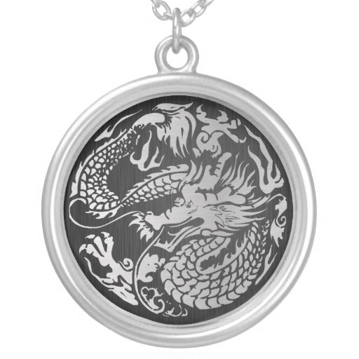 Traditional purple chinese dragon circle pendants