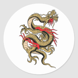 Chinese Dragon customizable designs Classic Round Sticker