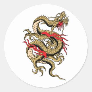 Chinese Dragon customizable designs Round Sticker