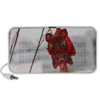 Chinese dragon decoration hanging from branch mini speakers