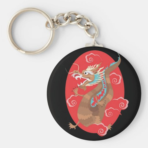 Chinese Dragon Design Key Chains