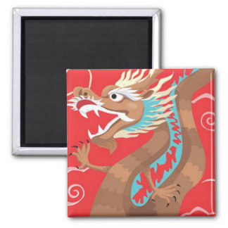Chinese Dragon Design Magnet