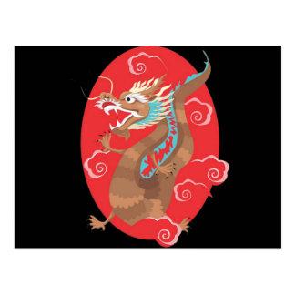 Chinese Dragon Design Postcard