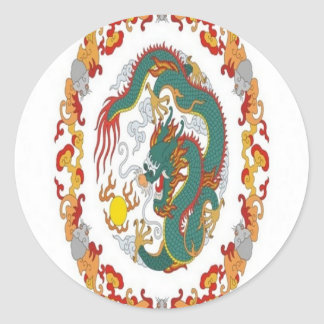 Chinese dragon design stickers