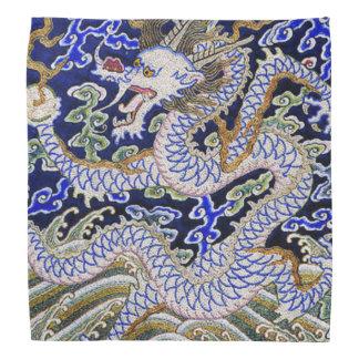 Chinese Dragon Embroidery Bandana
