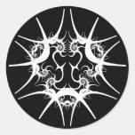 Chinese Dragon Fractal White Round Sticker