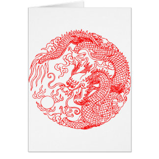 Chinese Dragon Greeting Card