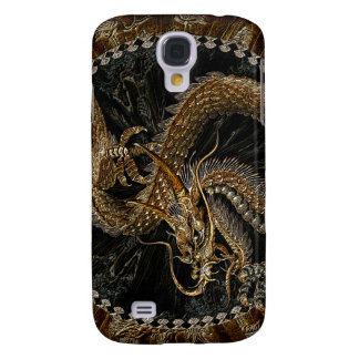 Chinese Dragon in Textured Brown Galaxy S4 Case