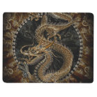 Chinese Dragon in Textured Brown Journal