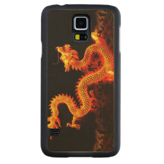 Chinese Dragon Lantern Carved Maple Galaxy S5 Case