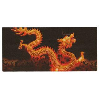 Chinese Dragon Lantern Wood USB 2.0 Flash Drive