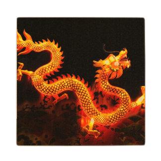 Chinese Dragon Lantern Wood Coaster