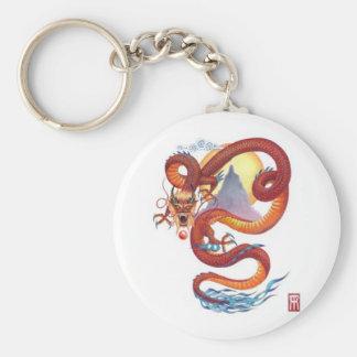 Chinese Dragon modified Basic Round Button Key Ring