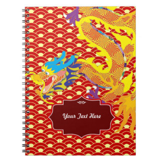 Chinese Dragon Spiral Note Book