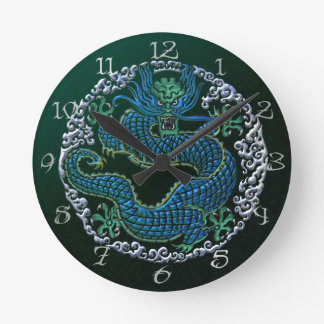 Chinese Dragon Ornament Wall Clock