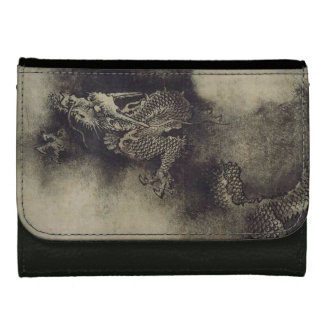 Chinese Dragon Painting Leather Wallet