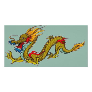 Chinese Dragon Personalised Photo Card