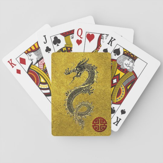 Chinese Dragon Prosperity Symbol Personalise Playing Cards