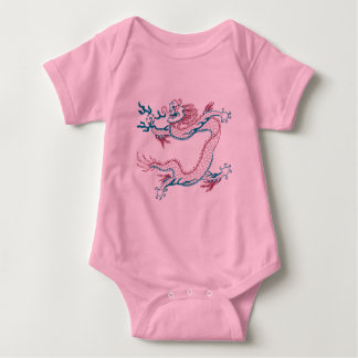 Chinese Dragon (red and green) Baby Bodysuit