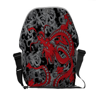 Chinese Dragon - Red Chinese New Year Dragon Messenger Bag