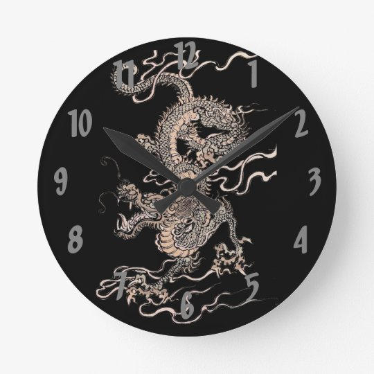 Chinese Dragon Round Clock