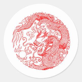 Chinese Dragon Round Sticker