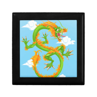 Chinese Dragon Small Square Gift Box