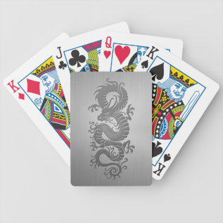 Chinese Dragon, Stainless Steel Effect Bicycle Playing Cards