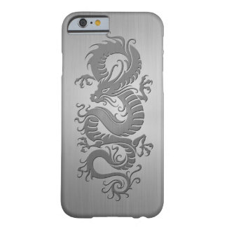 Chinese Dragon, Stainless Steel Effect Barely There iPhone 6 Case