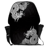 Chinese Dragon White Messenger Bags