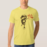 Chinese dragon with symbol for good luck t-shirt