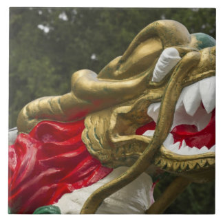 Chinese dragonboat figurehead, Stanley Park Tile