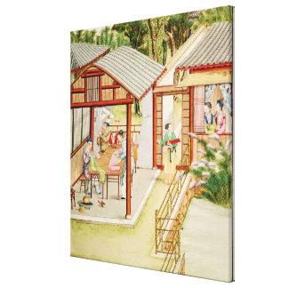 Chinese dressmaker's shop canvas print