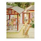 Chinese dressmaker's shop postcard