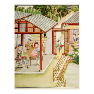 Chinese dressmaker's shop postcard