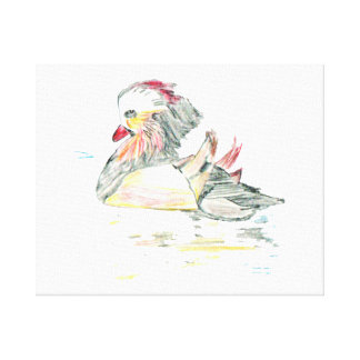 Chinese Duck Gallery Wrapped Canvas