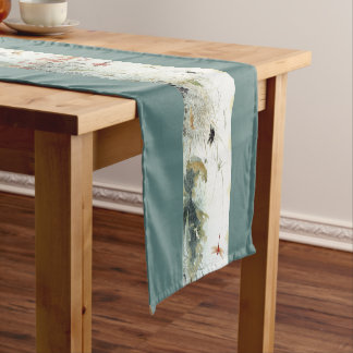 Chinese Early Autumn Insects Flowers Table Runner