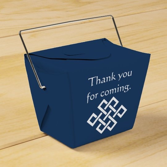 Chinese Elegance in Navy Favour Box