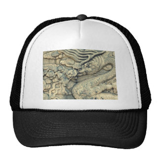 CHINESE EMBOSSED DRAGON TRUCKER HAT