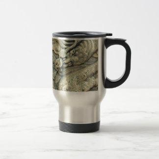 CHINESE EMBOSSED DRAGON COFFEE MUG