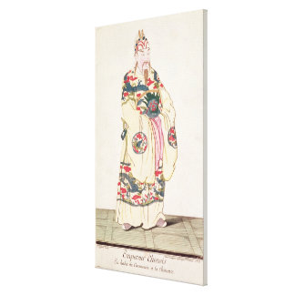 Chinese Emperor in Ceremonial Costume Canvas Print