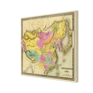 Chinese Empire And Japan Stretched Canvas Prints